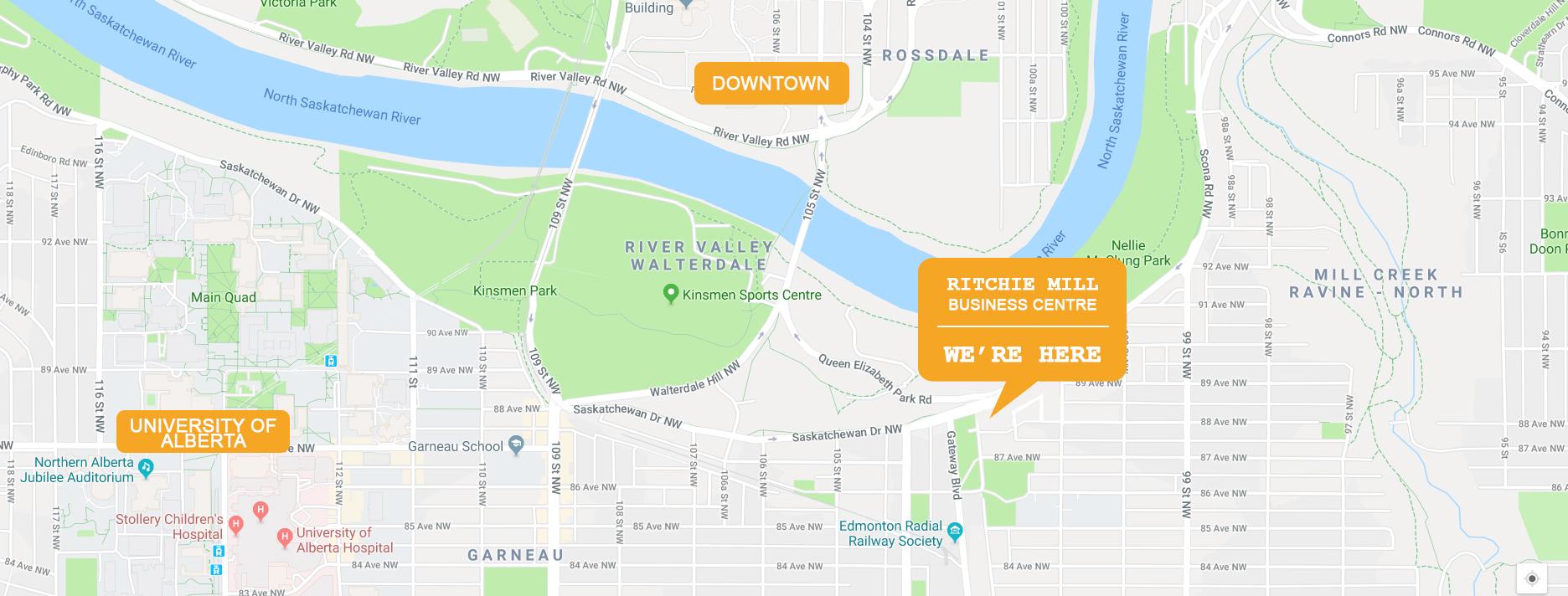 Ritchie Mill Edmonton Location